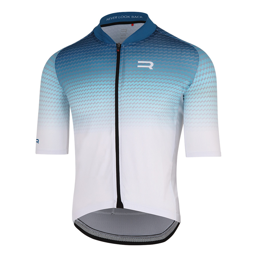 Maillot Finisseur Core Recycled fading azul blanco